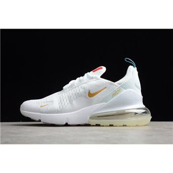 Nike Air Max 270 Flyknit FIFA World Cup French Champion White/Gold AH8050-119