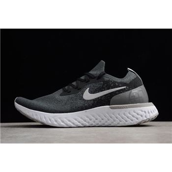 Nike Epic React Flyknit Black And Gery Printing Men's and Women's Size Running Shoes