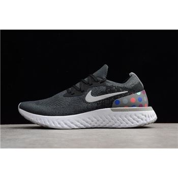 Nike Epic React Flyknit iD Black And Grey Dots Running Shoes AJ7283-996